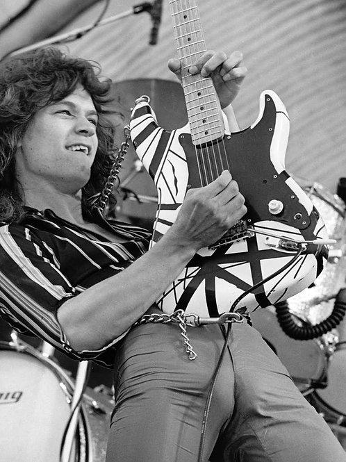 Eddie Van Halen with his Guitar
