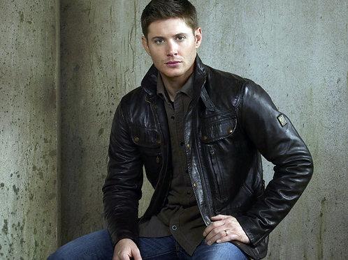 Handsome Jensen Ackles Wearing a Leather Jacket