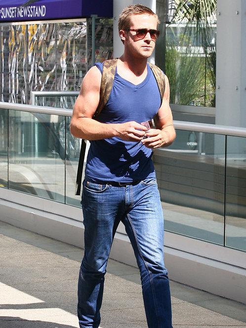 Ryan Gosling Sporting a Backpack