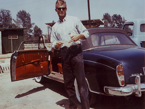 Tab Hunter with a Mercedes