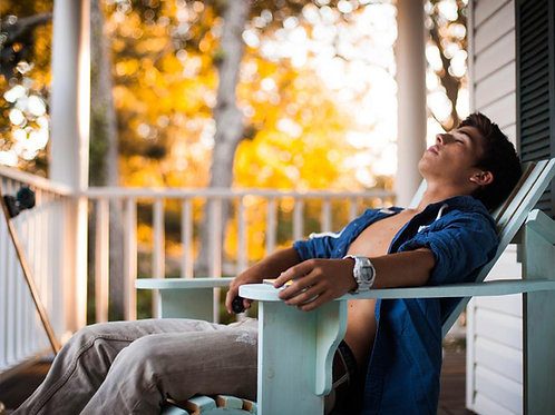 Sean O'Donnell Relaxing on the Porch