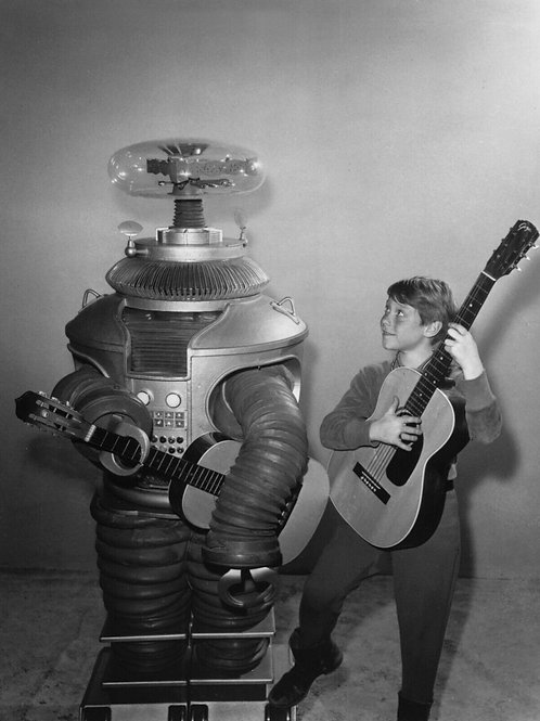 Billy Mummy Playing Guitar with the Robot