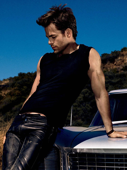 Chris Pine Packed Into Tight Leather Pants