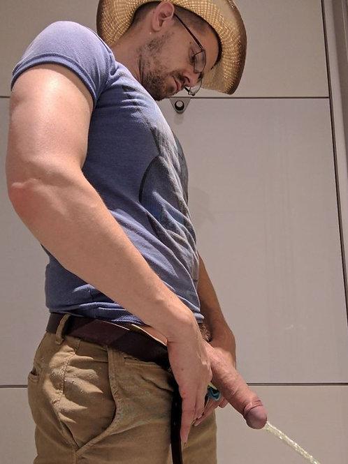 Cowboy Taking a Leak