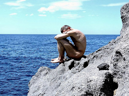 Nude on a Big Beach Rock