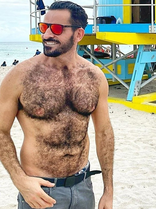 Extremely Hairy Chested Guy