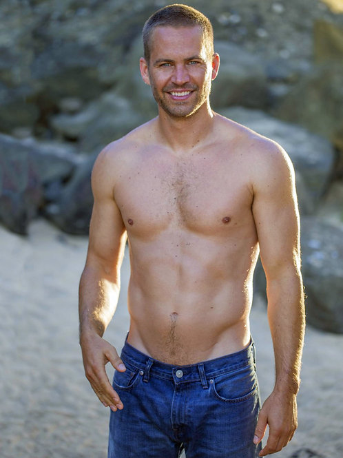 Paul Walker Shirtless with a Bulge in his Jeans