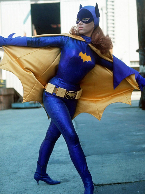 Yvonne Craig Showing Off her Batgirl Costume