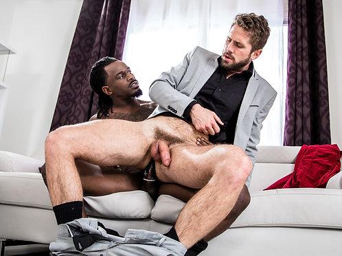 Bearded Executive Sitting on his Buddy