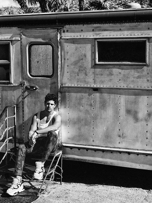 Franky Cammarata Outside His Camper