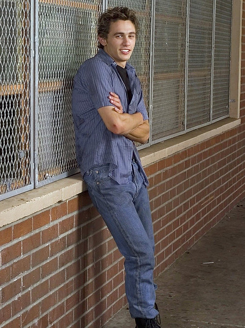 Smiling James Franco with his Arms Folded
