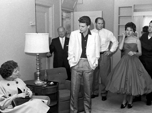Ricky Nelson at a Party Wearing a White Dinner Jacket