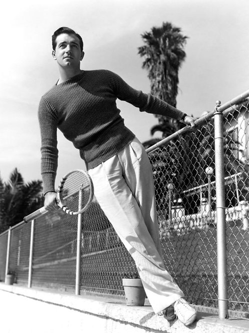 John Payne Playing Tennis