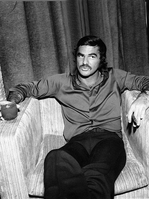 Burt Reynolds Relaxing with Coffee