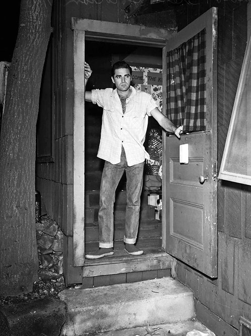 Steve Cochran at the Door Bulging in his Jeans in the 1950