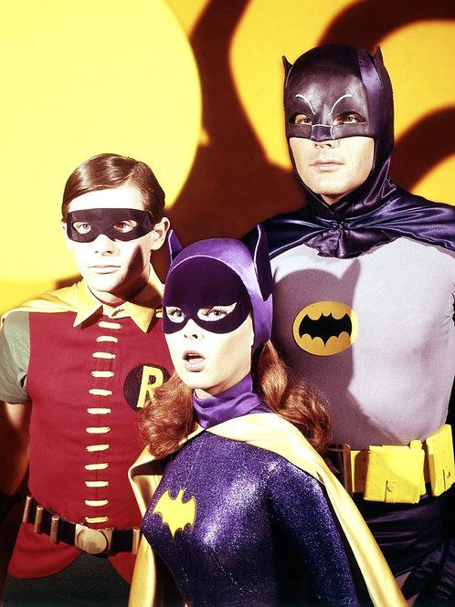 Adam West, Burt Ward & Yvonne Craig in Batman