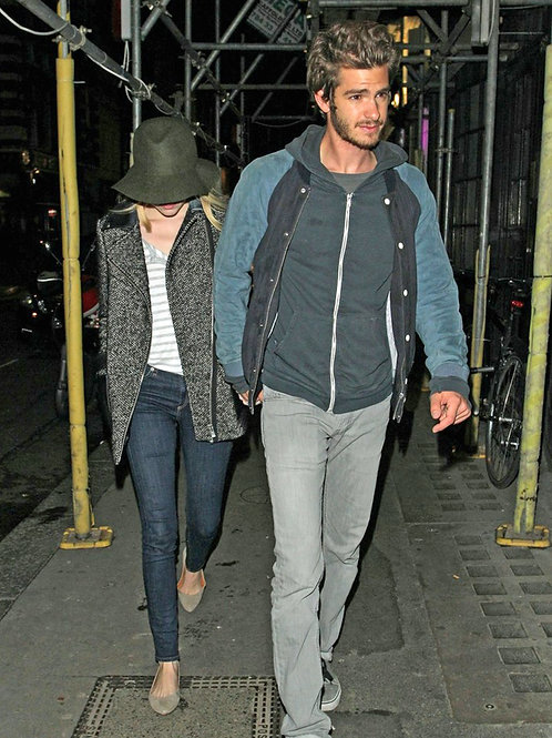 Andrew Garfield Bulging in Jeans Walking with Emma Stone