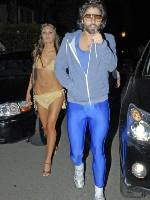 Adrian Grenier in Blue Spandex as He Goes to a Halloween Party