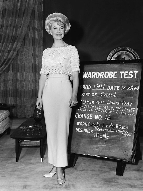 Doris Day Wardrobe Test in 1960