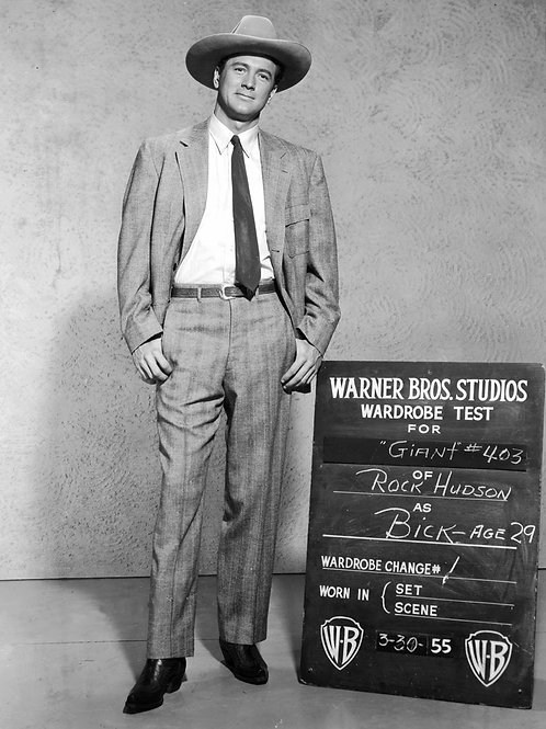 Rock Hudson in a Wardrobe Test for Giant