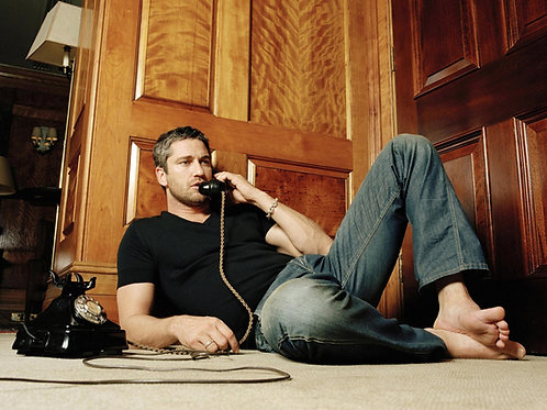 Gerard Butler in an Old Phone