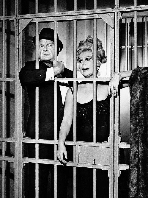 Eddie Albert & Eva Gabor in Jail in a Shot From Green Acres