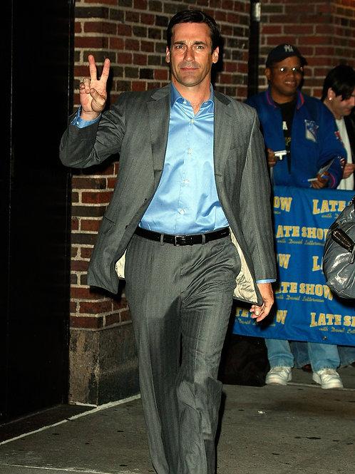 Jon Hamm Flashing a Peace Sign