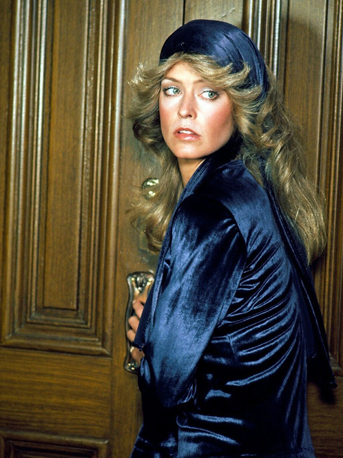 Farrah Fawcett Dressed in Blue