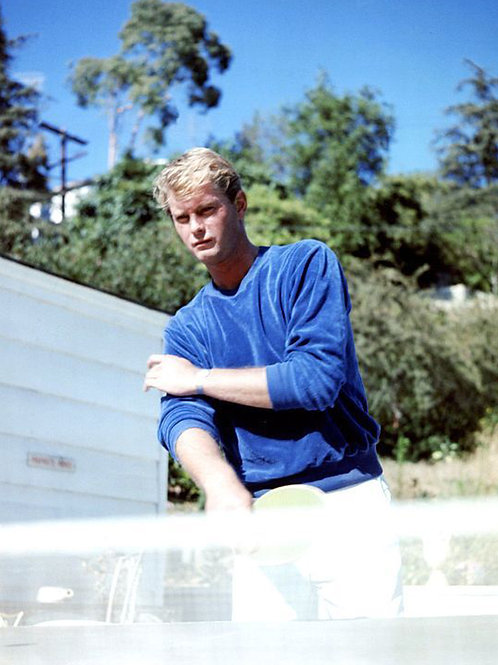 Troy Donahue Playing Tennis