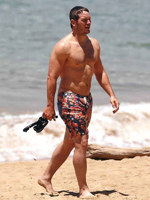 Chris Pratt all Wet at the Beach