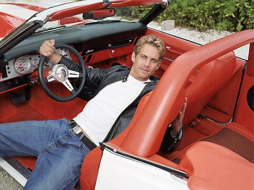 Paul Walker Looking Sexy in a Vintage Camaro