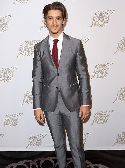 Brenton Thwaites in a Silver Suit