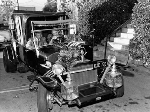 Munsters Koach with George Barris at the Wheel