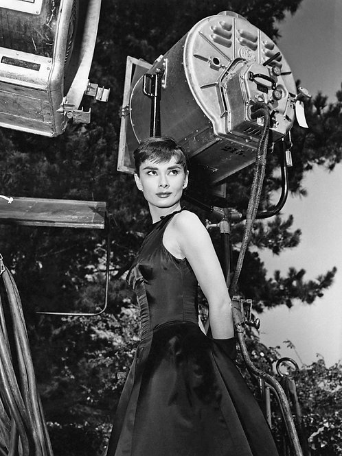 Audrey Hepburn Behind the Scenes of Sabrina in 1954