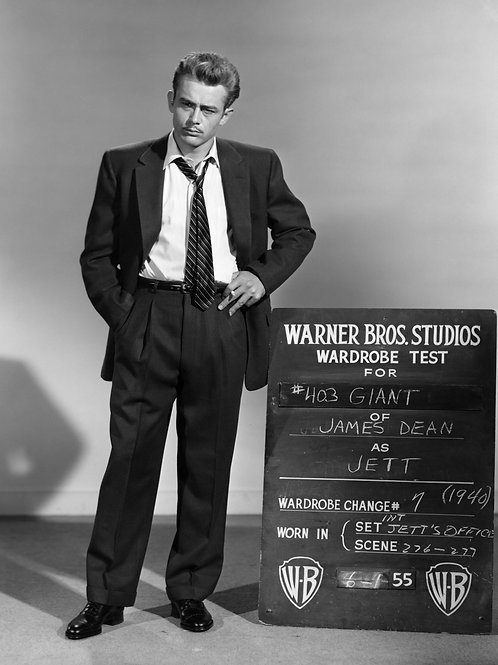 James Dean at his Wardrobe Test as Jett in the Movie Giant
