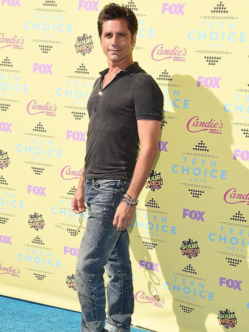 Hunky John Stamos Wearing Faded Old Jeans