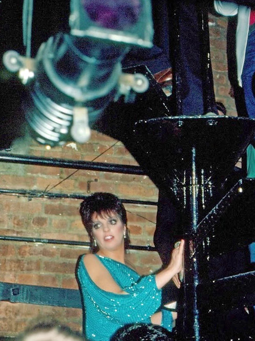 Young Liza Minnelli Wearing a Glittery Teal Top