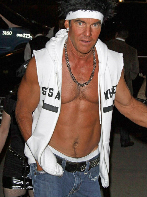 Dennis Quaid with His Shirt Open