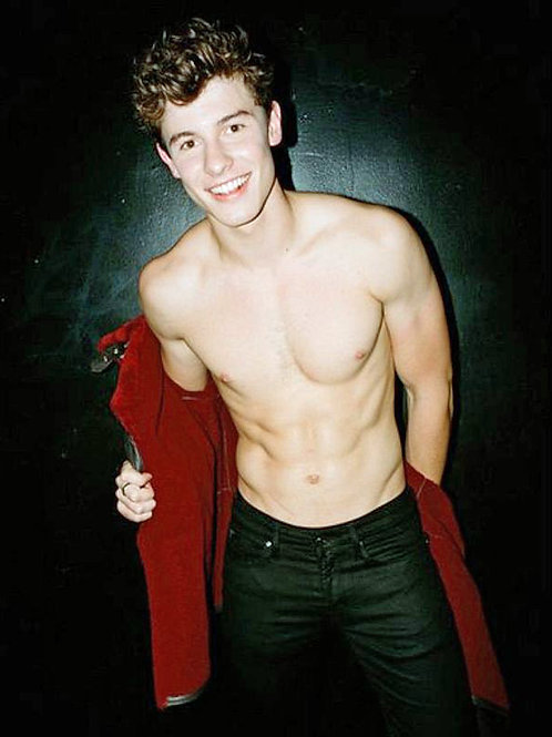 Shawn Mendes Taking his Shirt Off