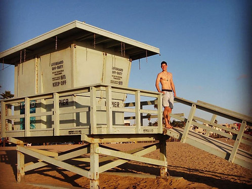 Finney Cassidy at the Lifeguard Station