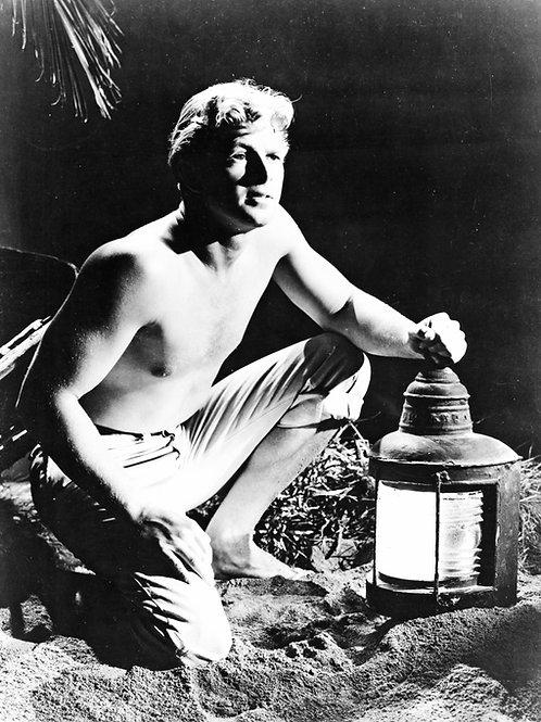 Vintage Sterling Hayden Holding a Large Lantern