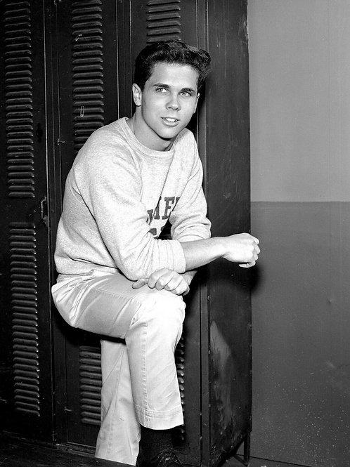 Tony Dow as Wally by his Gym Locker