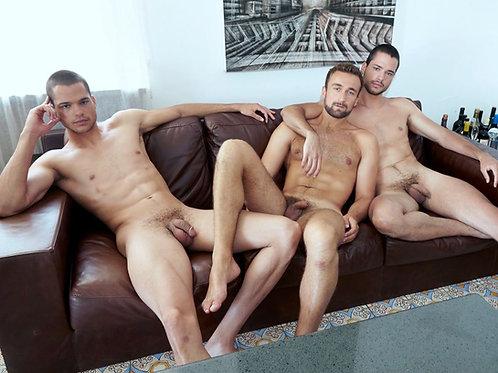 Three Friends on a Sofa