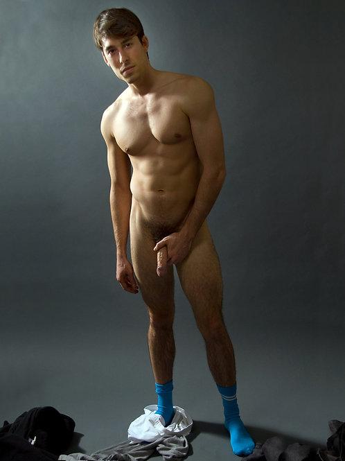 Bright Blue Socks