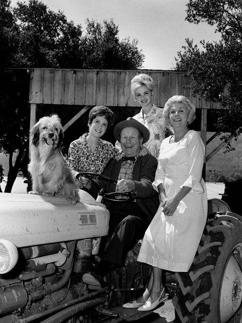 Petticoat Junction Cast on a Tractor