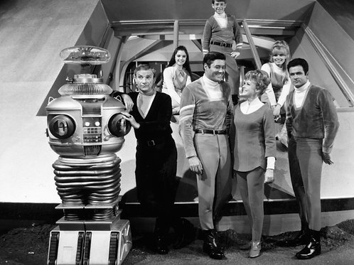 Cast From Lost in Space on the Set of the Jupiter 2