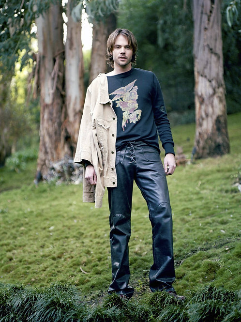 Barry Watson in the Woods Bulging in Leather Pants