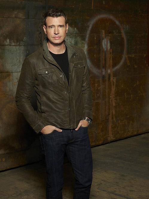 Scott Foley Wearing Leather & Jeans