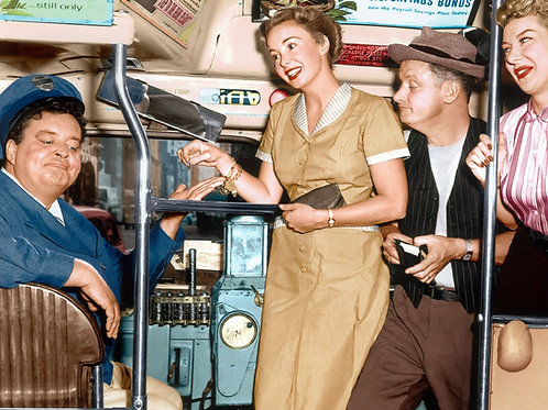Cast of the Honeymooners Getting On Ralphs Bus