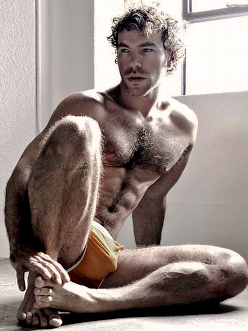 David Wagner Wearing Yellow Briefs
